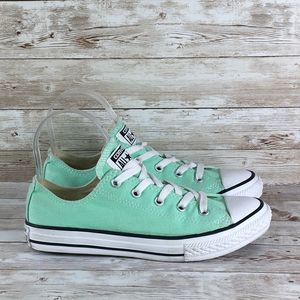 Converse All Star Low Green White Girls 3Y